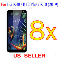 8x Clear LCD Screen Protector Guard Cover Film For LG K40 / K12 Plus / K10(2019)