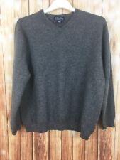 BROOKS BROTHERS Mens Extra Fine Italian Merino Wool Grey Sweater Jumper XL VGC
