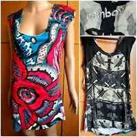 DESIGUAL RAINBOW TOP Blouse round neckline / neckline, sleeveless. Size L