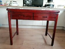 Wine/Rosewood colour Chinese style wood desk with drawers