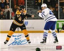 Adam McQuaid Boston Bruins Signed Inscribed fight Vs Leafs Fraser 8x10