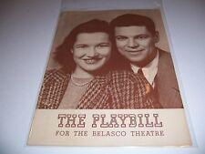 1941 BELASCO THEATRE PLAYBILL- MR AND MRS NORTH - ALBERT HACKETT PEGGY CONKLIN