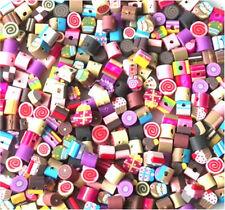 A granel 100 Mezclados pequeño Fimo Arcilla Polimérica pasteles, icecreams, dulces granos