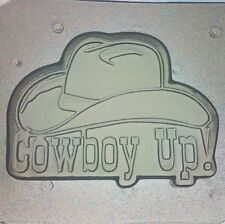 """Flexible Mold """"Cowboy Up"""" Country Western Resin Or Chocolate Mould"""