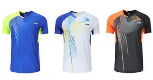 NEW Li-Ning Men Badminton T-Shirts table tennis clothes Sport Tops