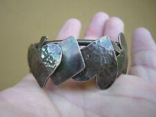 Vintage Hammered Indian Sterling Silver Bracelet Playing Card Suit Poker Bridge