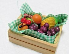 MINIATURE MIXED FRUIT IN WOOD BOX - DOLLHOUSE