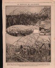 WWI Zeppelin LZ 85 RL  Bomb Thessalonique Thessaloniki Greece 1916 ILLUSTRATION