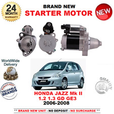FOR HONDA JAZZ II 1.2 1.3 STARTER MOTOR 2006-2008 BRAND NEW UNIT 0.7kW 9 TEETH