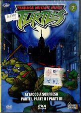 TEENAGE MUTANT NINJA TURTLES Vol.7 Attacco a Sorpresa pt.1,2,3 DVD NEW Sigillato