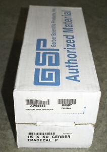 Gerber 15x50 Edge Ready Clear Vinyl Imagecal PERMANENT Sign Edge Printer plotter