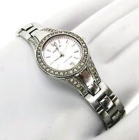 Fossil Women's Stainless Steel Crystal Bezel Date Cocktail Petite Watch AM4026