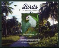 Marshall Islands 2019 MNH Birds Crimson-Crowned Fruit Dove 1v S/S Doves Stamps