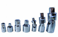 7 pieza cardan Y Adaptador Set-Socket Convertidor Reductor De 1/4 3/8 1/2