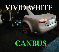 AUDI A3 A4 A6 8P 8PA B7 NUMBER PLATE LED VIVID XENON WHITE LIGHT BULBS