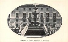 PALERMO SICILY ITALY~PIAAZZO PRETORIA la FONTANA~OVAL WINDOW S.A.G. POSTCARD