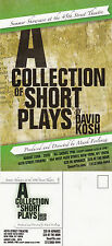 A COLLECTION OF SHORT PLAYS BY DAVID KOSH UNUSED COLOUR POSTCARD