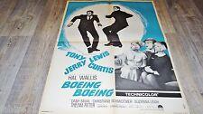 BOEING BOEING  ! tony curtis affiche cinema  1964