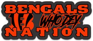 Cincinnati Bengals Bengal Nation Who Dey! expression & logo type Die-Cut MAGNET
