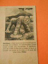 Fétichisme Espèce de Tigre à figure humaine Congo Belge Print 1938