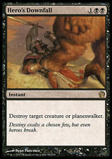 HERO'S DOWNFALL NM mtg Theros Black - Instant Rare