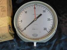 """Vintage Weksler Instruments Vacuum Gauge 2146b 85-0/30 ½"""" SUBD 1961"""