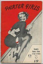 ~GARTER GIRLS - VINTAGE RISQUE PIN-UP & HUMOR PULP~1937 Canadian Publication!