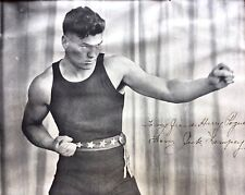 1920s Jack Dempsey AUTOGRAPHED Signed Dedicated Paper BOXING POSTER FountainPEN