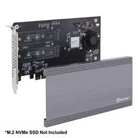 Syba 221845 I/o Card Si-pex40129 Dual M.2 Nvme Port Pcie3.0x16 To 2xm-key