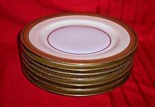 "7 Antique H&C HEINRICH & Co Selb Bavaria GOLD ENCRUSTED 9 3/4 "" DINNER PLATES"