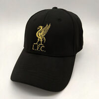 Liverpool FC Black Baseball Hat with Gold Logo Free Worldwide shipping from EU