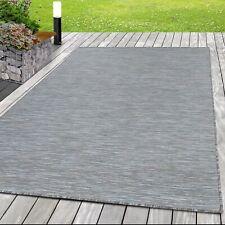 Outdoor-Teppich Flachgewebe Teppich Sisal Optik Indoor Küche Balkon Braun Grau