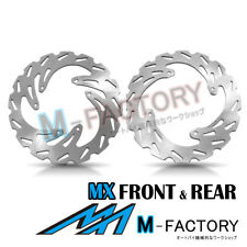 Brake Disc MX Front Rear Set Fit HONDA CRF450 R 04-14 05 06 07 08 09 10 11 12
