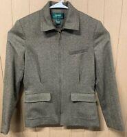 Lauren Ralph Lauren Full Zip Wool Jacket Blazer; Womens Size Small