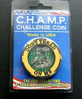 Don't Tread on Me 2nd Amendment Poker Chip Challenge Coin 1 and 3/4 inches