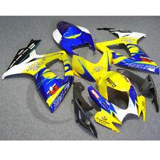 Yellow Crown INJECTION Plastic Fairing Set For SUZUKI GSXR 600 750 06-07 K6 11A