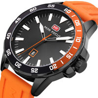 MINI FOCUS Men Fashion Stainless Steel Sport Quartz Watch Date Wrist Watches NEW