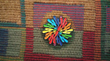 Spun Out Special K Hole Ketamine ROYGBIV Mandala Enamel Lapel Hat Pin