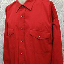 Panhandle Slim Mens XL Rockabilly Western Pearl Snap Red Long Sleeve Shirt
