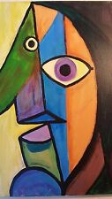 PICASSO STYLED CUBISM COLORFUL SHINY