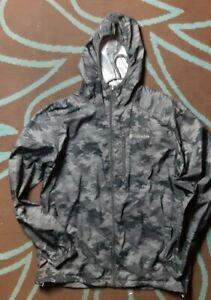 Columbia  windbreaker digital grey camo  jacket large northface  rare