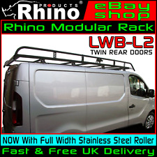 (LWB,LOW,TWIN) Rhino Modular Van Roof Rack +Roller For Vauxhall Vivaro 2014-2019