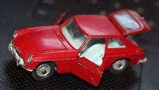 Corgi Die-Cast Metal Toy Vintage Red Original MGB GT Clean