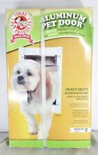 New Heavy Duty Aluminum Pet Dog Door Medium 35 lbs Magnetic Ideal Pet Products