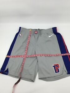 Nike Aeroswift NBA Authentics Team Issued Detroit Pistons Game Shorts Gray 46 +2