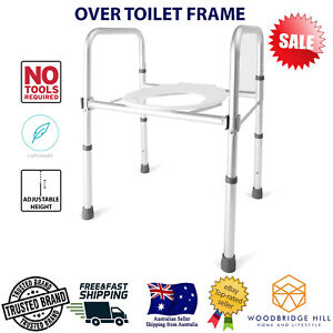 Over Toilet Frame Safety Support Bar Rail Metal Stand Medical Aids Mobility