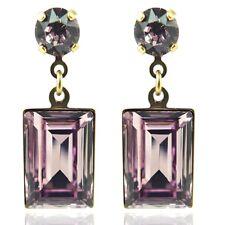 Ohrringe mit Kristallen von Swarovski® Gold Mauve NOBEL SCHMUCK