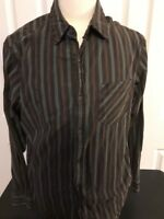 The North Face Casual cotton long sleeve Button front sz L Large Striped EUC