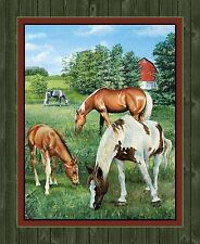 WILD WINGS VALLEY CREST HORSE WALL HANGING FABRIC CP64264