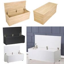 Large Ottoman Toy Box XL Storage Case Wood Blanket Chest Trunk Wooden Furniture